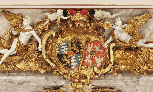 Picture: Alliance coat-of-arms of Bavaria and Saxony