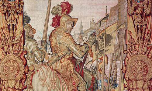 Picture: Tapestry from the Otto-von-Wittelsbach series, section