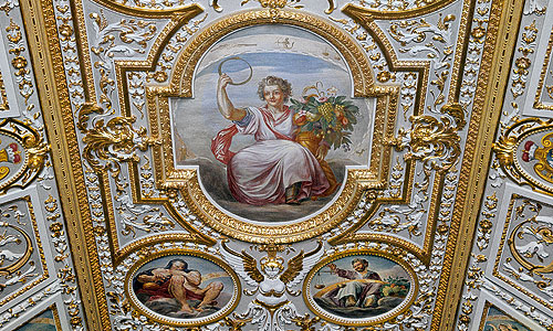 Picture: Ceiling in the Room of the Seasons, detail