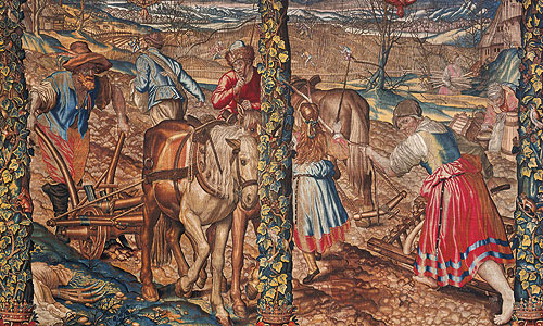 "Picture: ""March"", tapestry"