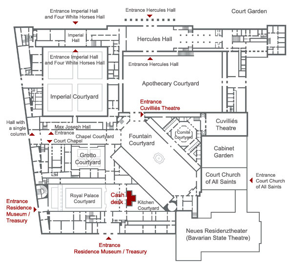 Picture: Plan of the Munich Residence